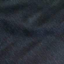 Dark Grey Wool Suiting Fabric with a Fine Salmon Stripe